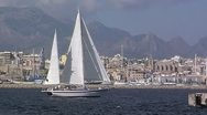 Sailing yacht 33 Stock Footage
