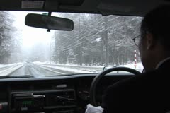 Hakuba - Winter Japan. Taxi driving, Tourism, travel Stock Footage