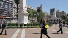 Plaza de Mayo Stock Footage