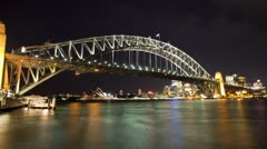 Sydney Harbour Bridge Time Lapse Stock Footage