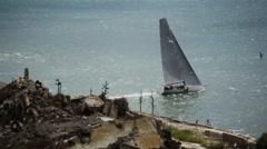 Alcatraz Sailboat 01 HD Stock Footage