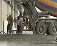 Pouring of concrete. Construction. Stock Footage