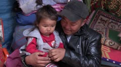 Mongolia: Father and Son - stock footage