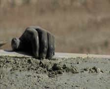 Smoothing concrete. Construction. Stock Footage