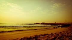 Time lapse Sunset on the beach Stock Footage