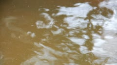 Dust float on the water surface Stock Footage