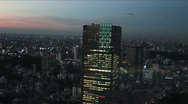 Tokyo Aerial View - Sunset 2 Stock Footage