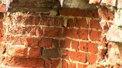 old brick wall - stock footage