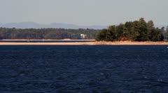 Cabin Cruiser on Lake - stock footage