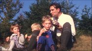 Stock Video Footage of Family picknick in the 1960s (Vintage 8 mm amateur film)