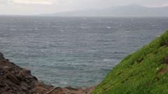 Windy ocean Stock Footage