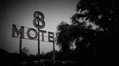 Creepy Old Motel Stock Footage