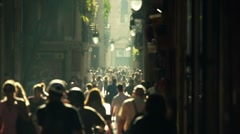 Street crowd slowmotion Stock Footage