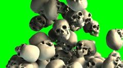 Skull transition Stock Footage