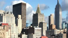 New york skyline manhattan NYC ny timelapse Stock Footage