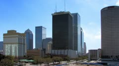 Downtown Tampa Skyline in early morning Stock Footage