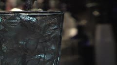 Bartender pouring drink Stock Footage