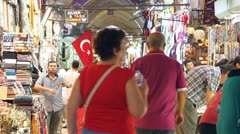 Grand bazaar interior Stock Footage