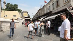 Shopping district at Grand bazaar Stock Footage