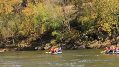 Whitewater rafting on the New River Stock Footage