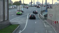 Stream of cars Stock Footage