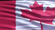 Stock Video Footage of Canadian flag ripple