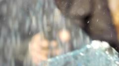 Shoot through car glass 2 Stock Footage
