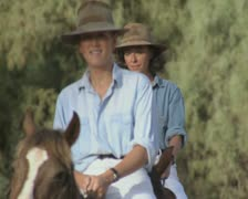 Women riding horses Stock Footage
