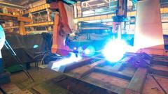 Welding robot  TL 2 Stock Footage