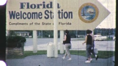 FLORIDA WELCOMES YOU! Info Center Tourism 1960s Vintage Film Home Movie 914 Stock Footage