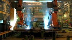 Welding robot  TL 3 Stock Footage