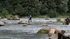 Chilkoot, Salmon Fishing Stock Footage