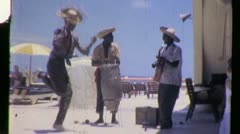 LIMBO BAND African American BLACK MEN Dancing 1960 Vintage Film Home Movie 918 Stock Footage