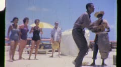 BLACK Man Dance LIMBO RUMBA BAND Afro Caribbean 1960 Vintage Film Home Movie 917 Stock Footage