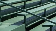 Stock Video Footage of GolfTournyBleachers