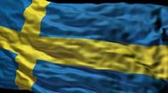 Stock Video Footage of Swedish flag ripple