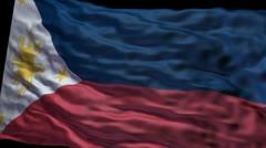 Philippines flag ripple Stock Footage