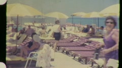 Women Sunbathe Tourist Resort Vacation Pool 1960s Vintage Film Home Movie 921 - stock footage