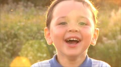 Small happy boy laughing Stock Footage
