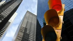 Stop light in the city Stock Footage