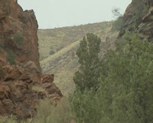 Pull out shot of Gnala Gorge Stock Footage