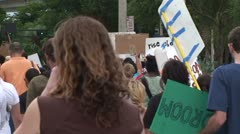 Occupy Wall Street Protesters Marching Away - stock footage