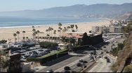 Stock Video Footage of Santa Monica Beach, California