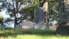 Graveyard in the shadows Stock Footage