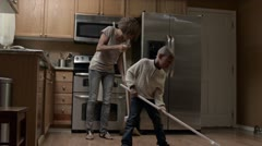 Modern Family: Sweeping WS 720p - stock footage