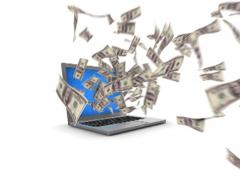 Internet Money - 100 Dollar Bills - stock footage