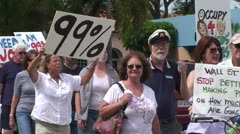 Occupy South Florida March Stock Footage