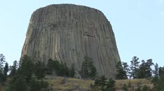 Devils Tower from south side Stock Footage