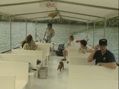 Stock Video Footage of On board a sightseeing boat