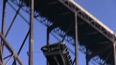 Base jumper landing on the mark Stock Footage